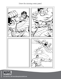 Page four of the Marvel press Activity Pages Falcon and the Hulk
