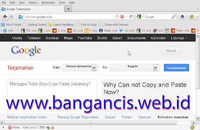 Solusi Tidak Bisa Copas di Google Translate