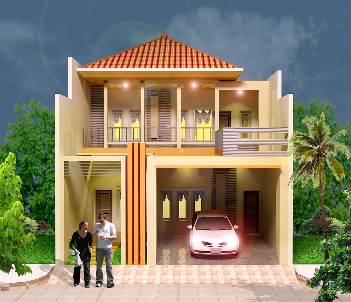 Model Rumah Tingkat minimalis 2 lantai