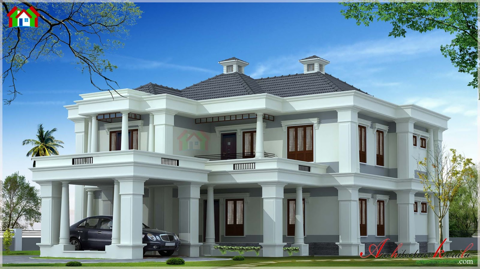 4000 square feet contemporary style house architecture for 3000 sq ft house plans kerala