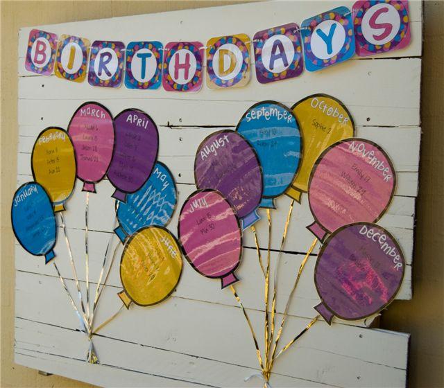Innovative Birthday Charts For Classroom ~ Educación infantil recordatorio de cumpleaÑos