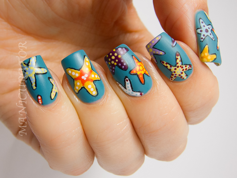Manicurator Starfish Nail Art Plus Tutorial With Picture Polish