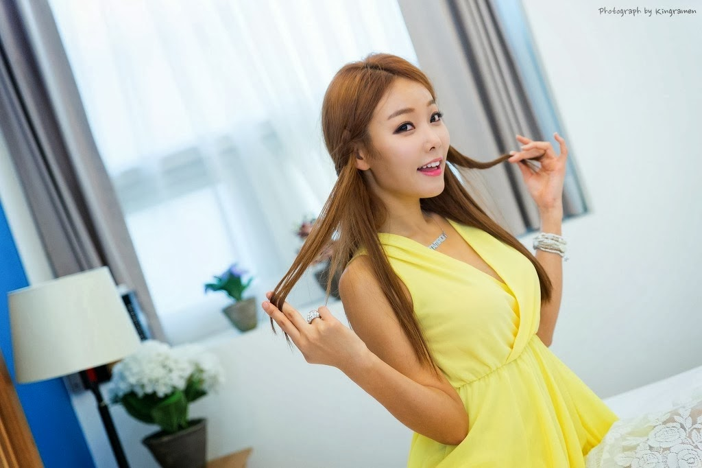 Lee Da Hee Model Beauty in Yellow