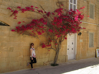 My first vist to Mdina when I was still pregnant with Bella