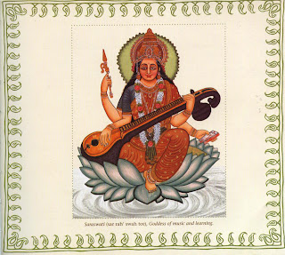 Saraswati (sar rah' swah tee), Goddess of music and learning.
