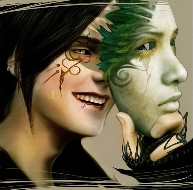 лица в красках арт