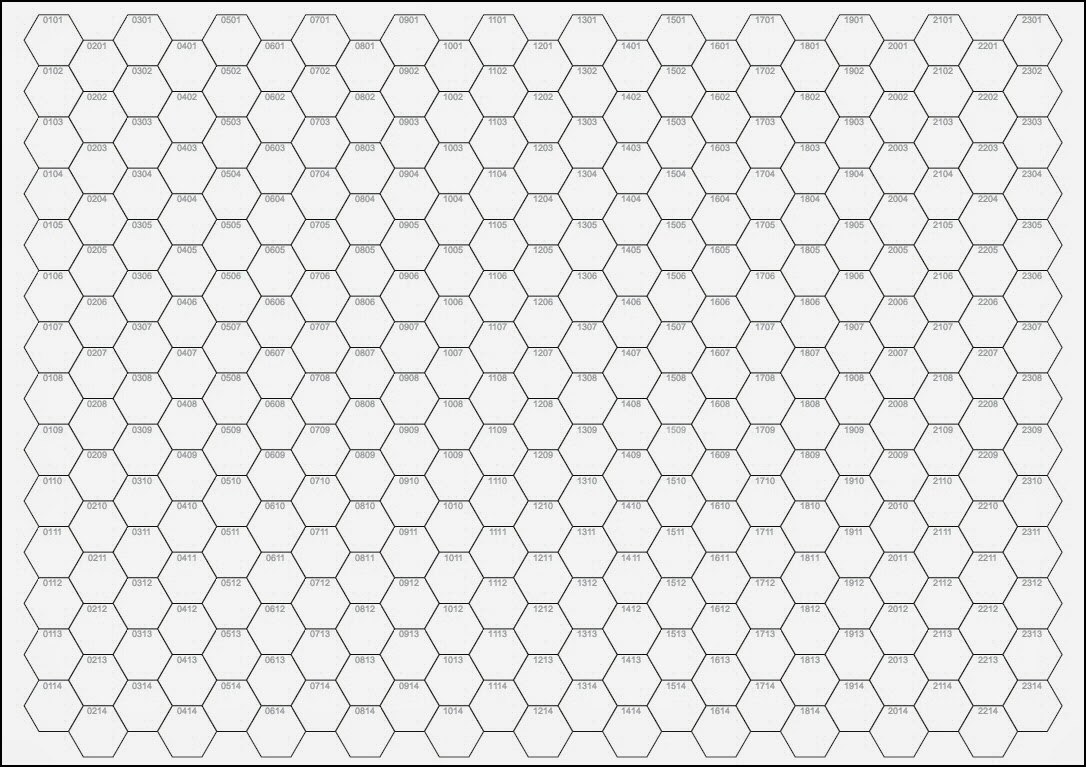 hex paper Drawing hexagons note:  the secret here is not to count the squares, but the intersections of the graph paper once you do that, the hex draws nicely from even.