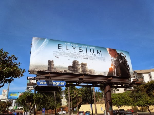 Elysium movie billboard