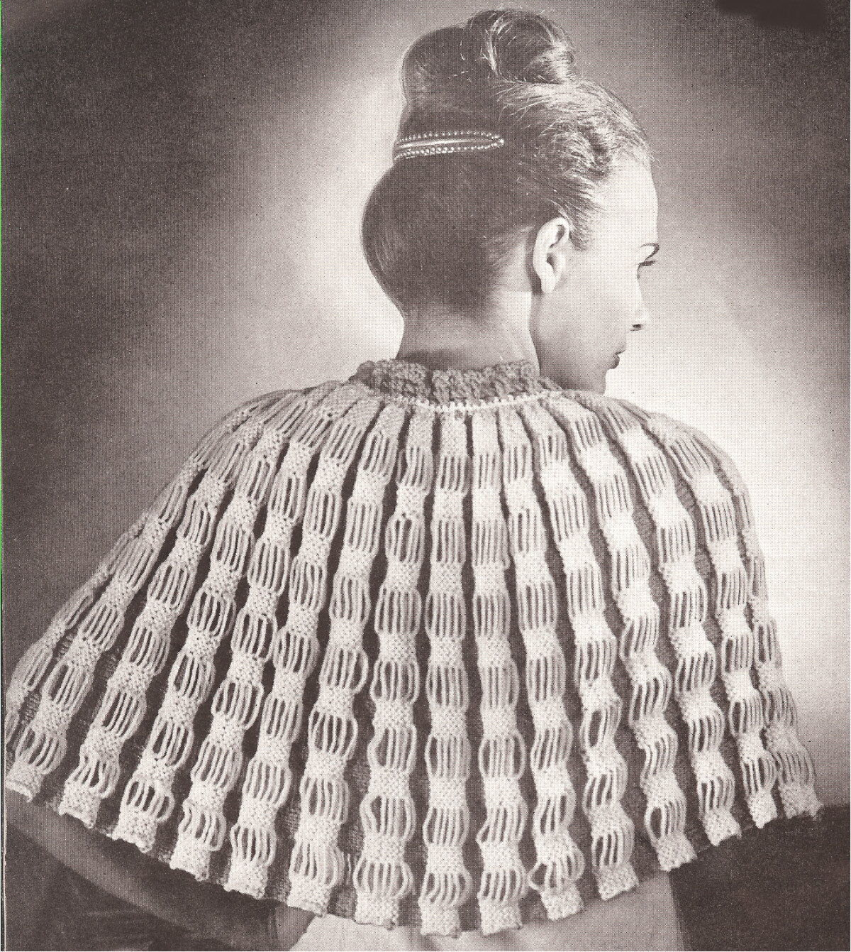 free vintage crochet capelet patterns