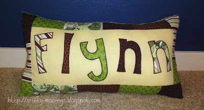 Flynn's pillow, front view