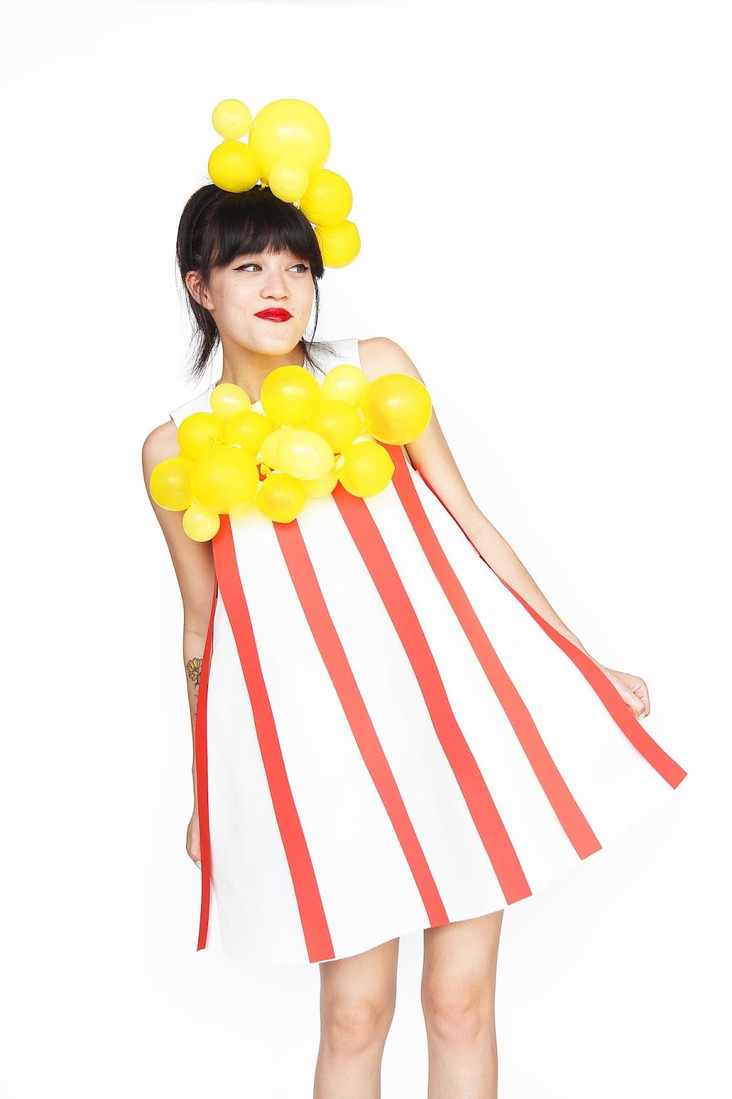 aww sam diy popcorn halloween costume. Black Bedroom Furniture Sets. Home Design Ideas