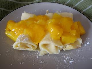 Mango Ricotta Crepe