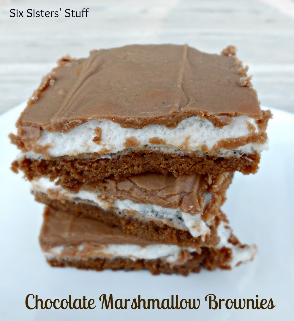 Mom's Famous Chocolate Marshmallow Brownies – Six Sisters' Stuff