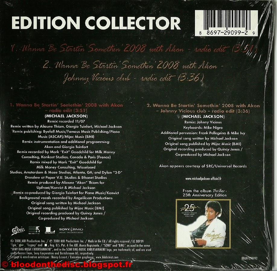WBSS 2008 CD Single Français Pochette Arrière