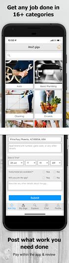 Cross-Platform App of the Week - AtoZ Gigs