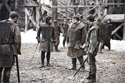 Jon nieve y sus compañeros de la guardia de la nocehe