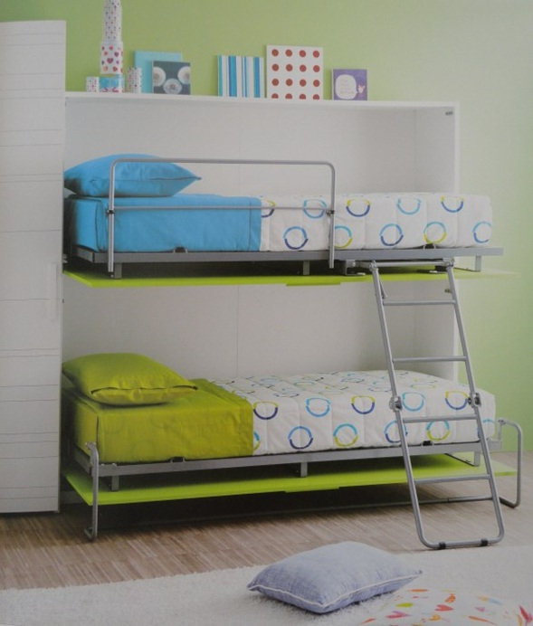Decora y disena dise o de camas plegables para ni os modernas for Cama diseno