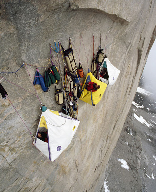 Hanging precariously in tents off a 4000ft vertical cliff face wouldnu0027t be most peopleu0027s idea of the perfect c&ing trip. But these daredevils scale ... & Amazing facts