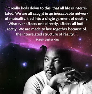 MLK Quote: We live in mutuality because of the interrelated structure of reality.