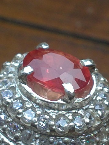 natural orange sapphire