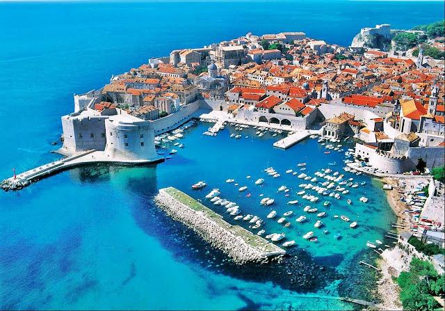 Imagen aérea de Dubrovnik