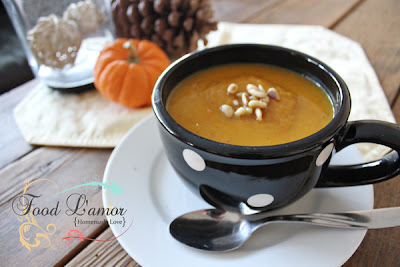Butternut Sage Soup with Toasted Pine Nuts