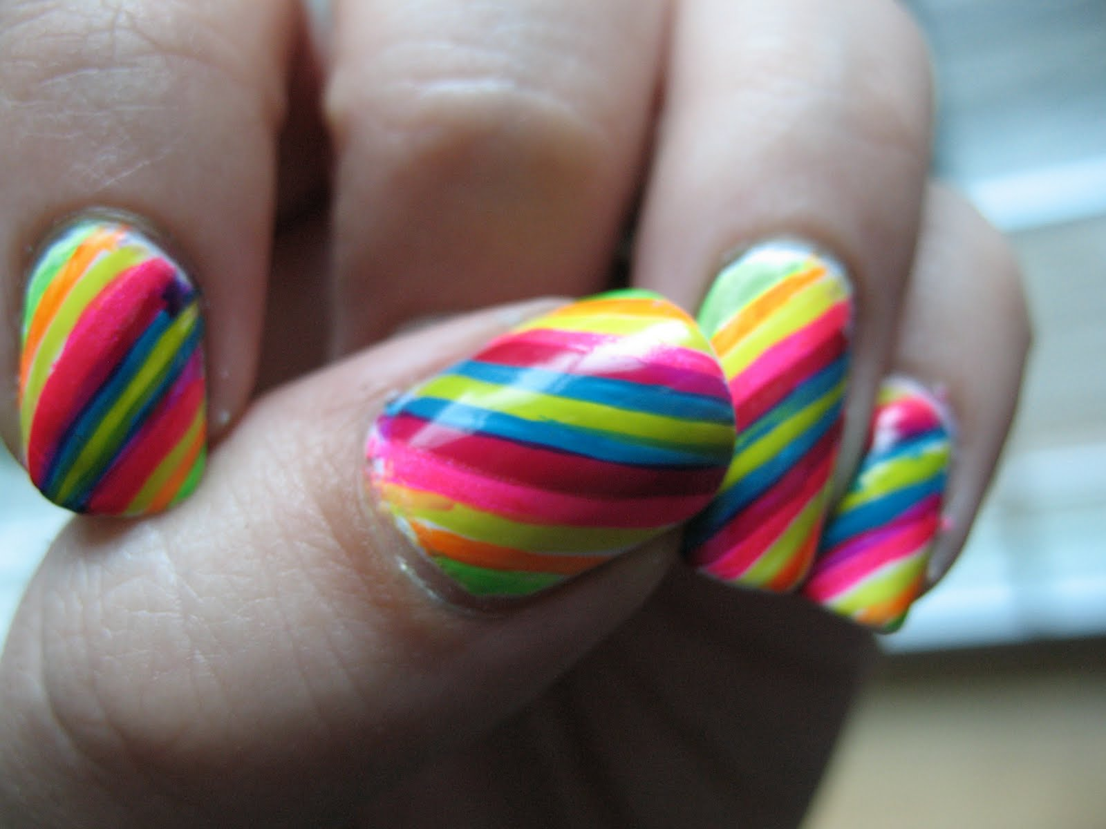 Moondancerjen\'s Nails: Playing with Color Club Neon Stripers ...