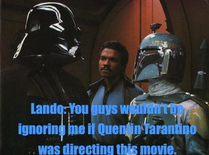 Lando Calrissian as the token black guy in Star Wars Meme Quentin Tarantino Empire Strikes Back