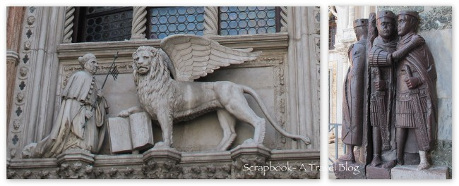 Lion of Venice book and Tetrarchs Venice Italy