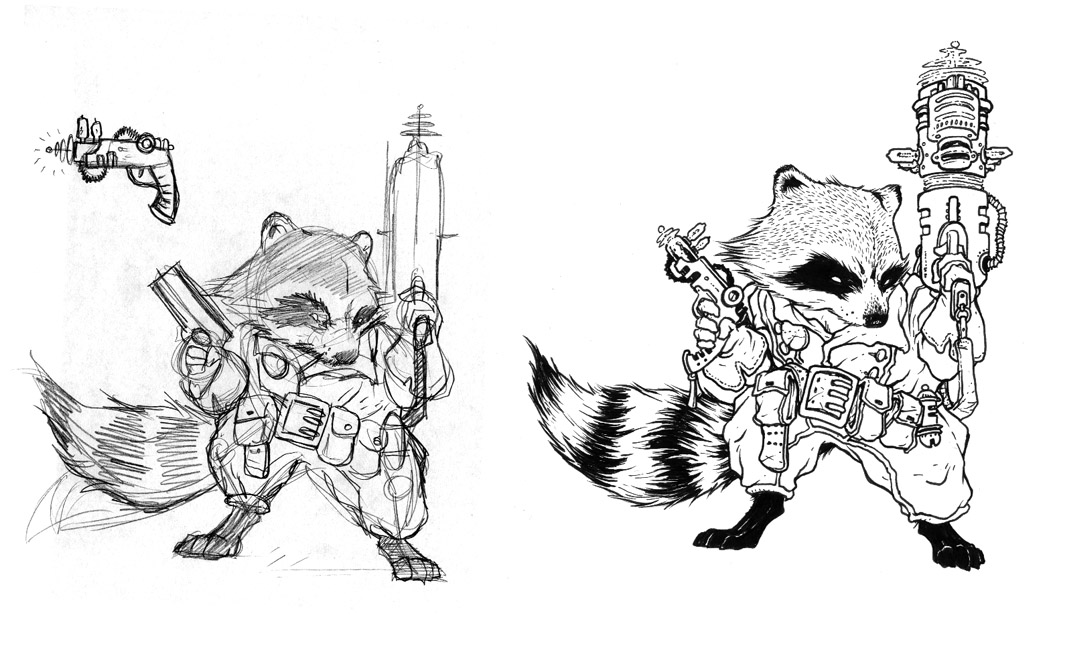 Marvel Rocket Raccoon Coloring Pages widescreen