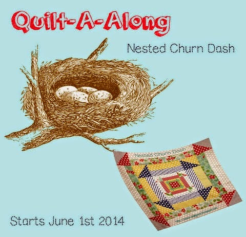 Quilt Jane's Nested Churn Dash QAL
