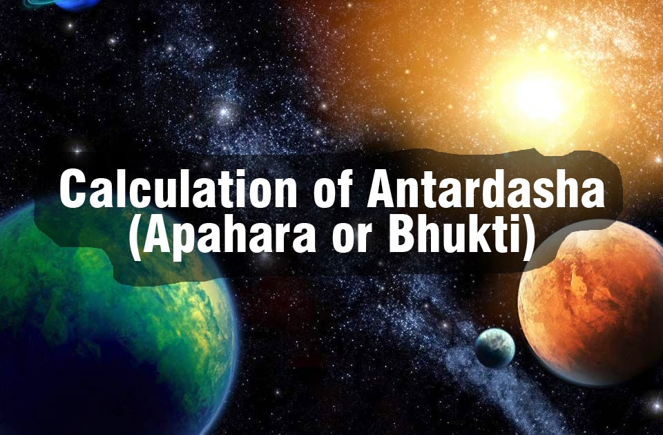 Calculation of Antardasha