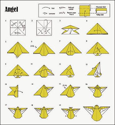 Origamis de Natal - Anjo de Natal