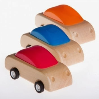 Pull Back wooden Cars