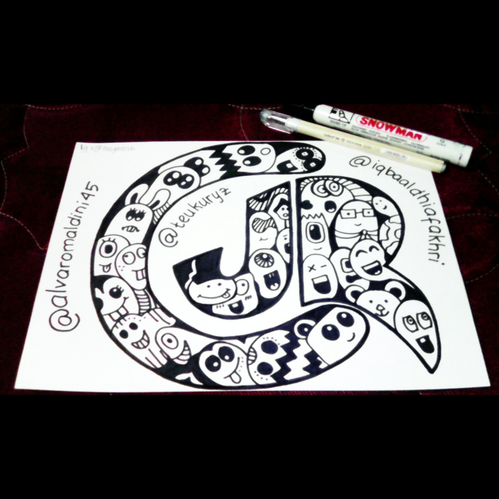 Ini contoh doodle art lain yang pernah aku buat semoga ini bisa jadi inspirasi kalian dalam menggambar doodle art yaa