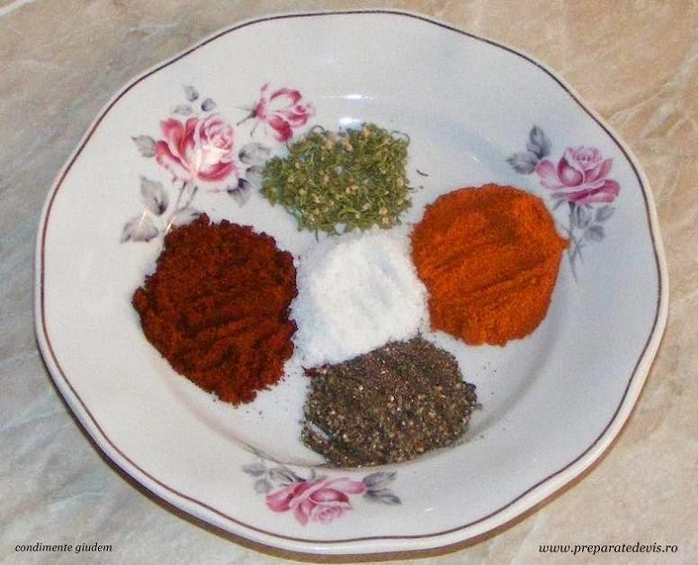 retete si preparate culinare din condimente pentru ghiudem de casa preparare,