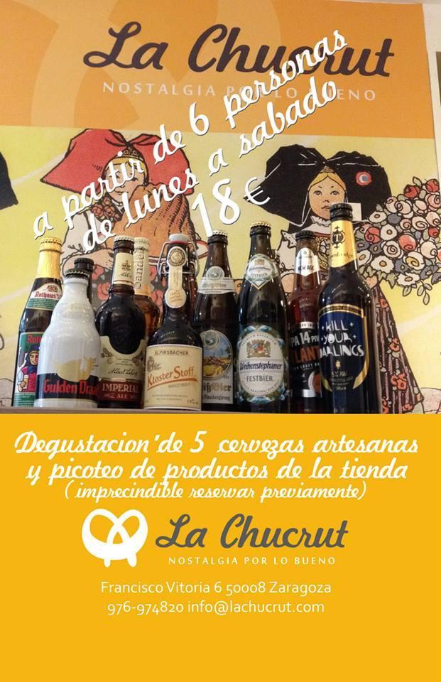 En LA CHUCRUT Degustaciones de cervezas y productos europeos
