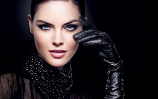Girl Face Blue Eyes Hand Glove HD Wallpaper