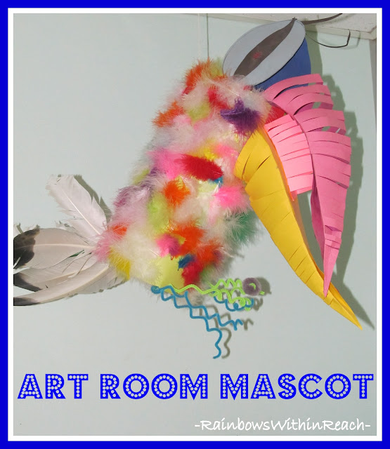 photo of: Art Room Mascot (Art Room RoundUP via RainbowsWithinReach)