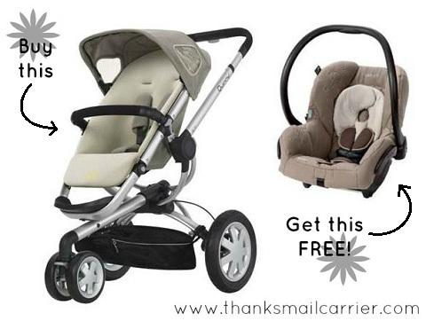 Quinny stroller Maxi-Cosi car seat free