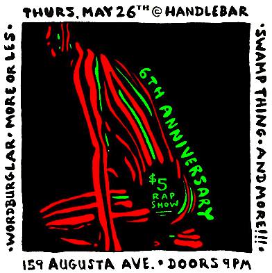The $5 Rap Show @ Handlebar, Thursday