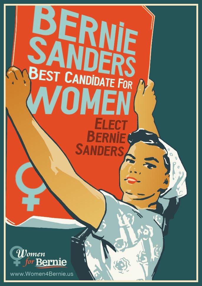 "<b><a href=""http://BernieSanders.com/"">Go Bernie! Women For Bernie</a></b>!"