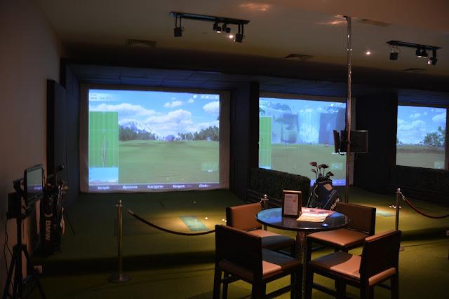 Mandarin Oriental Hotel KL golf simulator
