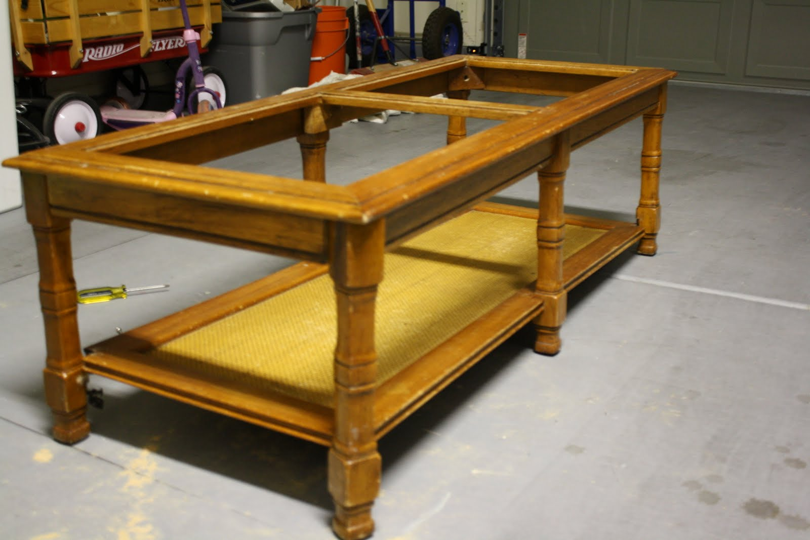 Wonderful Furniture Redo: Coffee Table To Bench