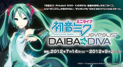 Hatsune Miku Mini Live Daiba de Diva concierto