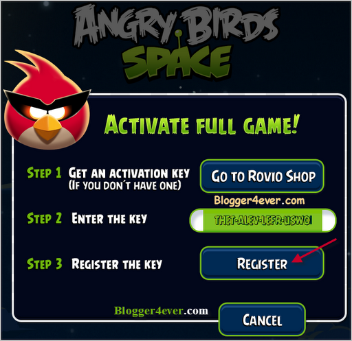 angry birds classic activation key for pc