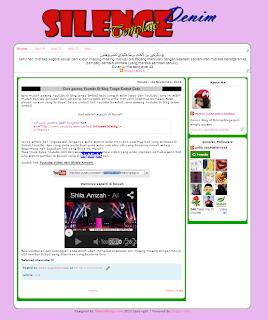 Denim Template edited by SilenceBlogz