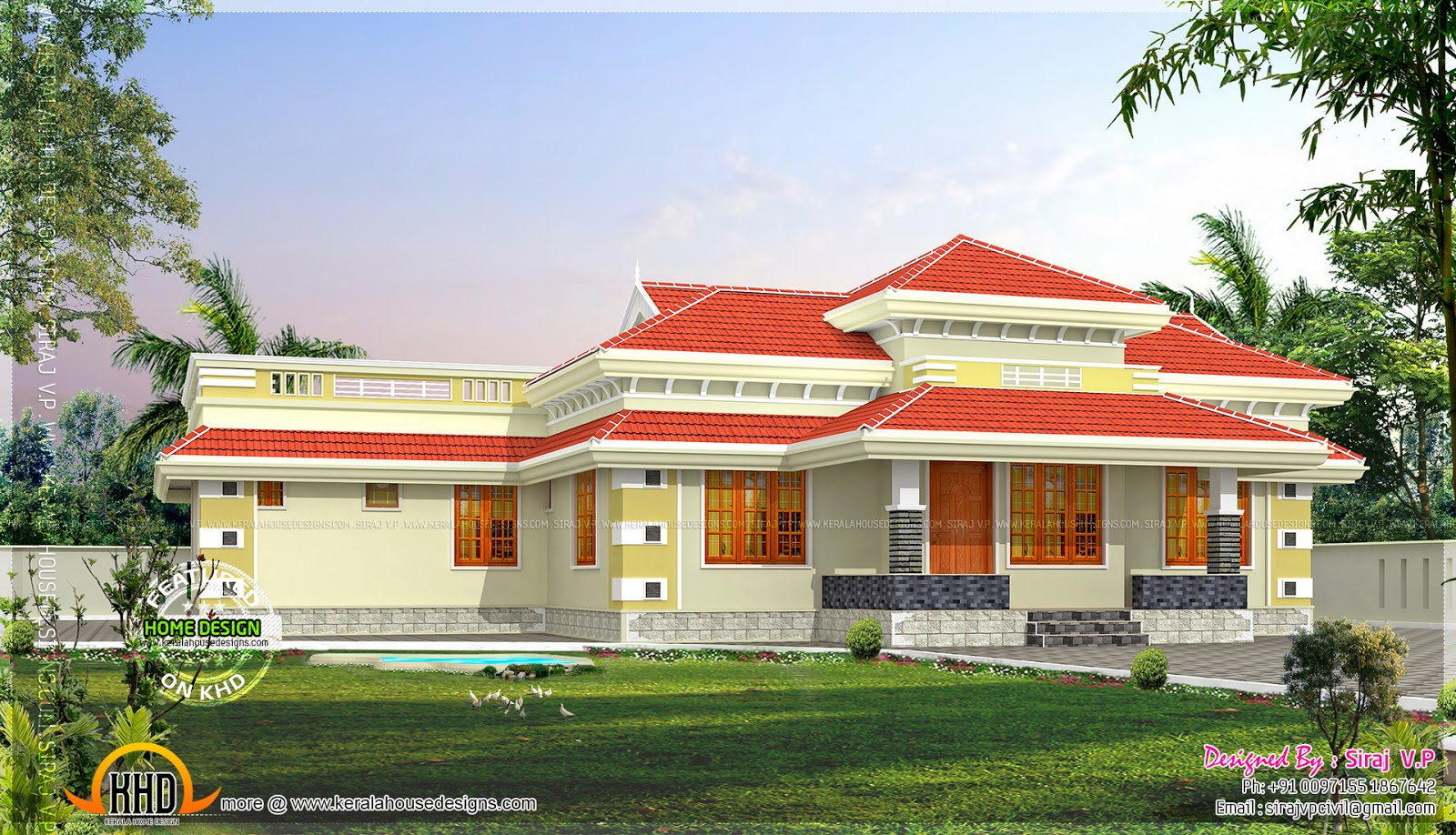 February 2014 kerala home design and floor plans for Kerala house plans 2014