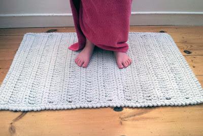 Crochet, Bath Mat, Crochet Rug
