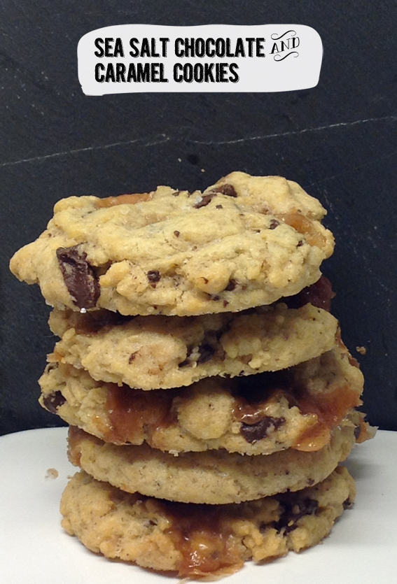 Cherry Top: Sea Salt Chocolate & Caramel Cookies